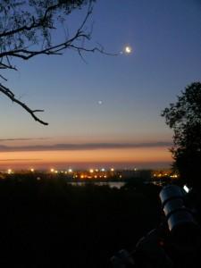 Луна, Юпитер, Венера, Телескоп